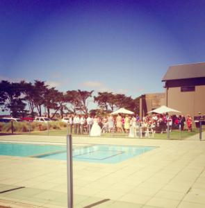 Poolside ceremony